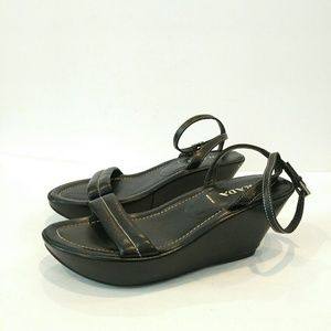 Prada Platform Sandal Black leather size 38.5